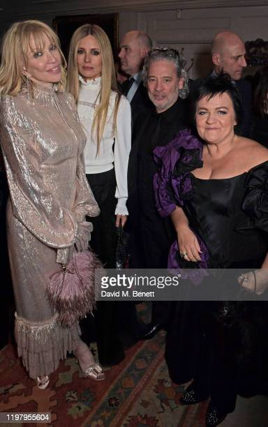 Courtney Love Laura Bailey Dexter Fletcher and Dalia Ibelhauptaite attend the Charles Finch CHANEL PreBAFTA Party at 5 Hertford Street on February 1...