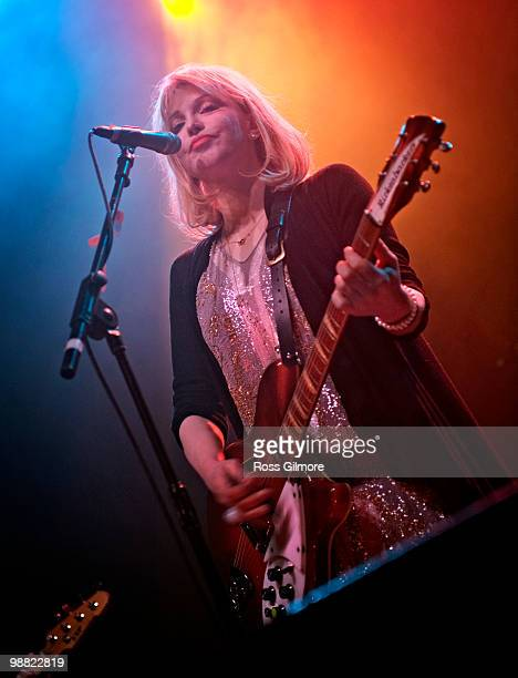 Courtney Love lead singer of HOLE performs on stage at O2 Academy on May 3, 2010 in Glasgow, Scotland.