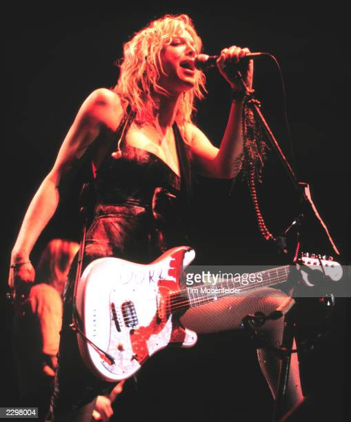 Courtney Love of Hole performing at the Live 105's Not so Silent Night at San Jose Event Center in San Jose Calif on December 10th 1998 Image By Tim...