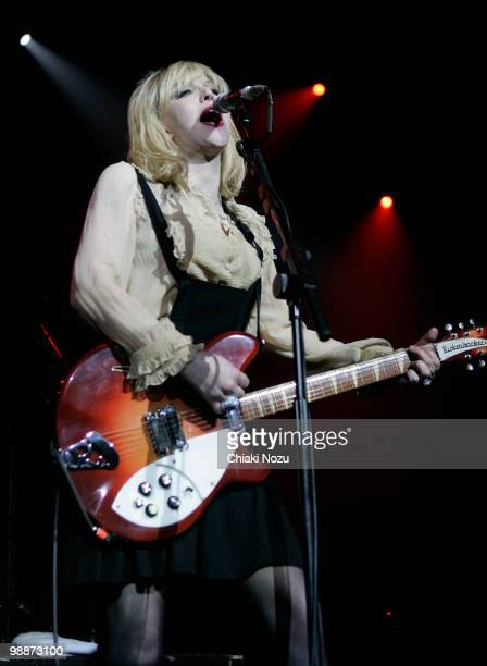 Courtney Love of Hole performs at Brixton Academy on May 5 2010 in London England