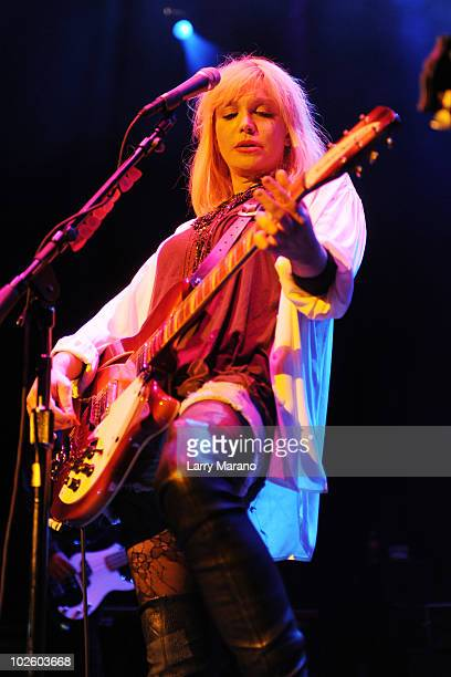 Courtney Love of Hole performs at Fillmore Miami Beach on July 2 2010 in Miami Beach Florida