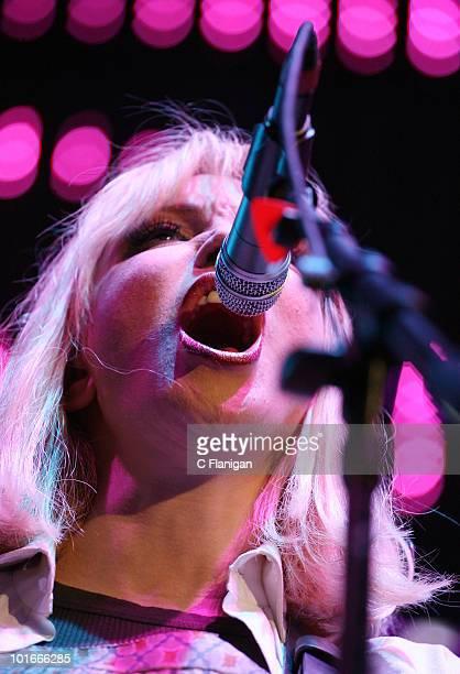 Courtney Love of Hole performs at Verizon Wireless Amphitheatre on June 5 2010 in Laguna Hills California