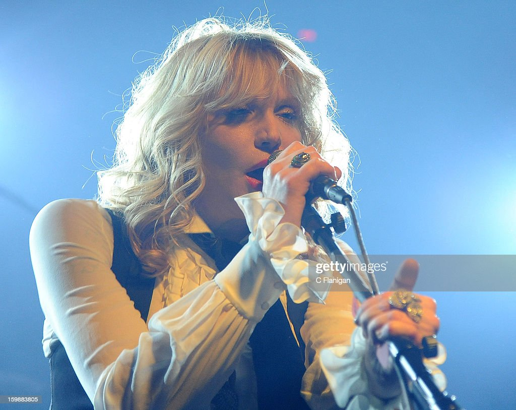 Courtney Love performs live in concert during the 2013 Sundance Film Festival at Star Bar on January 21, 2013 in Park City, Utah.
