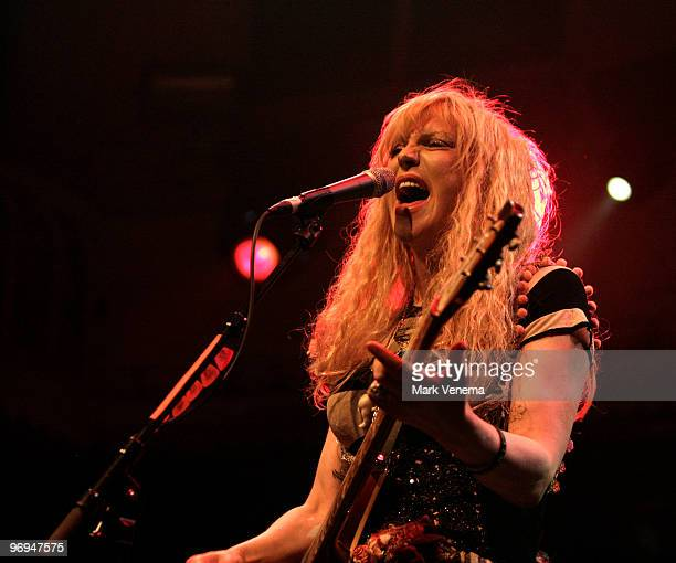 Courtney Love performs live with her band Hole at Paradiso on February 21 2010 in Amsterdam Netherlands