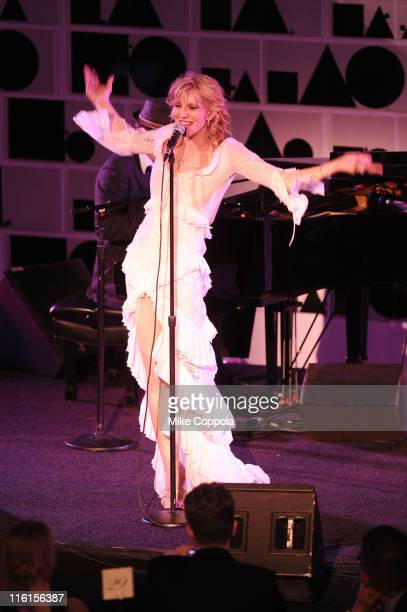 Courtney Love performs on stage during the 2nd Annual amfAR Inspiration Gala at The Museum of Modern Art on June 14 2011 in New York City