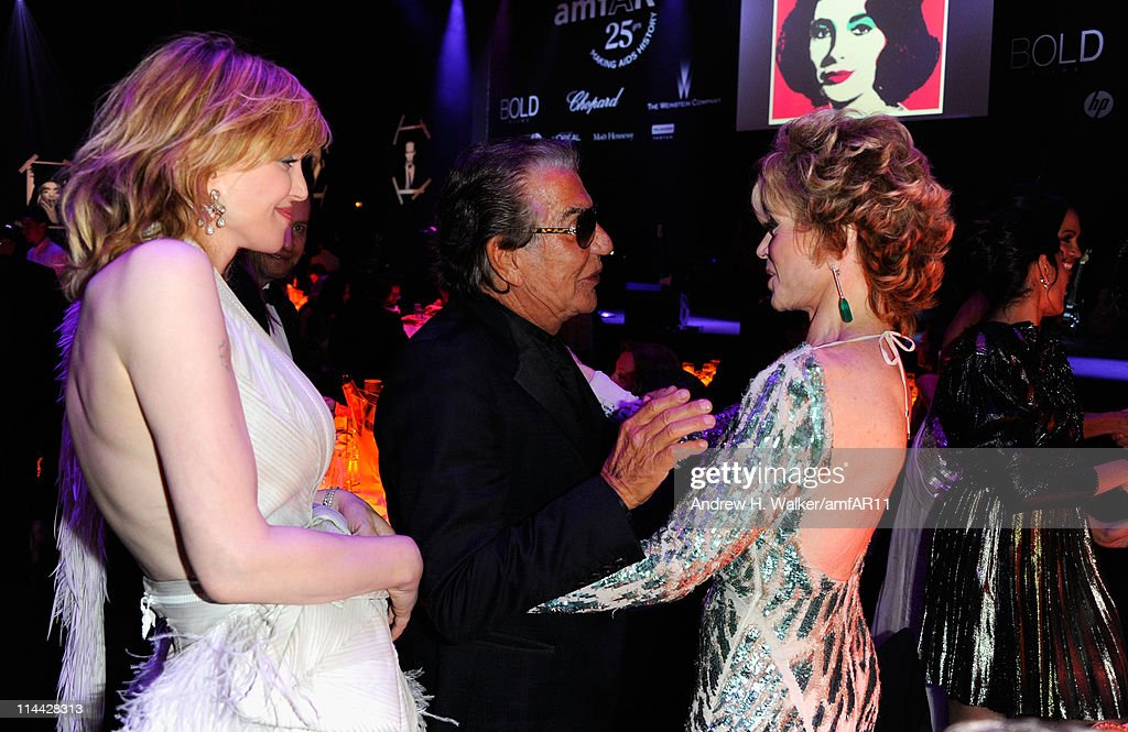 Courtney Love, Roberto Cavalli and Jane Fonda attend amfAR's Cinema Against AIDS Gala during the 64th Annual Cannes Film Festival at Hotel Du Cap on May 19, 2011 in Antibes, France.