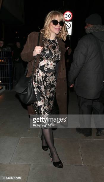 Courtney Love seen attending LOVE Magazine party at The Standard during LFW February 2020 on February 17 2020 in London England