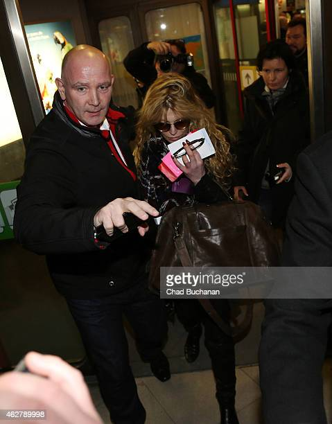 Courtney Love sighted arriving at Tegel Aiport on February 5 2015 in Berlin Germany