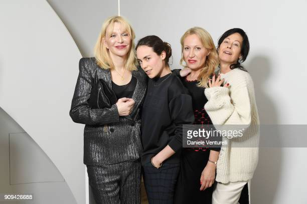 Courtney Love Tallulah OrmsbyGore Diana WidmaierPicasso and Amanda Harlech attend Mene 24 Karat Jewelry Presentation at Gagosian Gallery on January...
