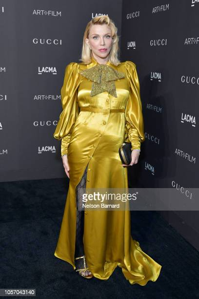 Courtney Love wearing Gucci attends 2018 LACMA Art Film Gala honoring Catherine Opie and Guillermo del Toro presented by Gucci at LACMA on November 3...