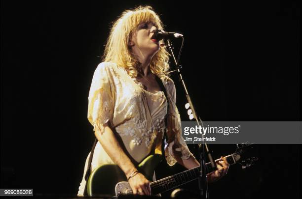 Courtney Love with her band Hole performs at the Roy Wilkins Auditorium in St. Paul, Minnesota on September 5, 1994.