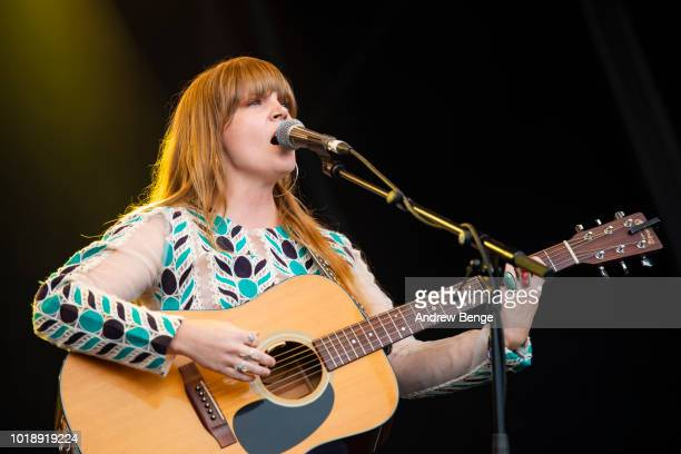 Courtney Marie Andrews performs on the Mountain stage during day 2 at Greenman Festival on August 18 2018 in Brecon Wales