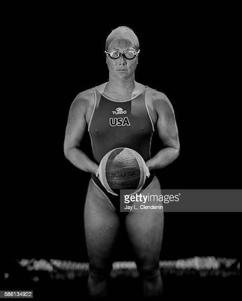 Courtney Mathewson will compete on the USA women's Water Polo team in the 2016 Rio Olympics and is photographed after team practice at the Joint...