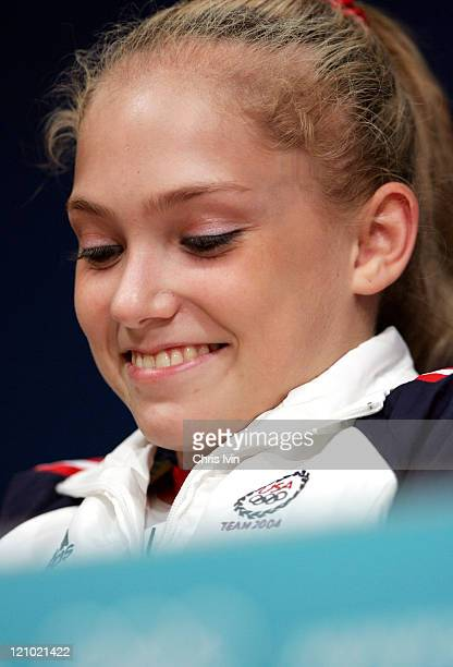 Courtney McCool during Athens 2004 Olympic Games Gymnastics Artistic United States Team Press Conference August 12 2004 at Olympics Media Centre in...