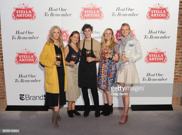 "Courtney McGowan Alexis Berger Jonah Reider Carolyn Zwiener and Sarah Kippins joined Stella Artois to celebrate the brand's ""Host One to Remember""..."