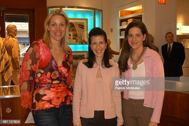 Courtney Moss Alexandra Mandis and Katie Colgate attend Bunny Hop Kickoff Breakfast at Ralph Lauren 888 Madison Avenue on February 24 2005 in New...