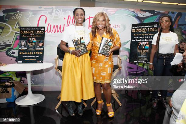 Courtney Parker and Mona ScottYoung attend the House of Fashion Beauty during the 2018 BET Experience at Los Angeles Convention Center on June 23...
