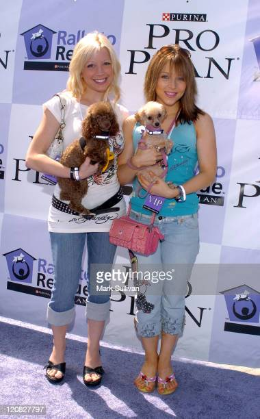 Courtney Peldon and Ashley Peldon during Purina's Rally To Resuce 2005 Purple Carpet at Barrington Recreational Center in Brentwood California United...