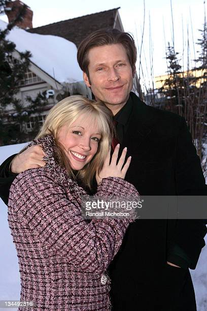 Courtney Peldon and Crispin Glover during 2006 Sundance Film Festival - Courtney Peldon and Crispin Glover Outdoor Portraits in Park City, Utah,...