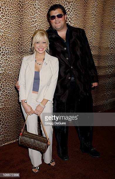 Courtney Peldon and Jason Davis during Roberto Cavalli Beverly Hills Store Opening at Roberto Cavalli in Beverly Hills California United States