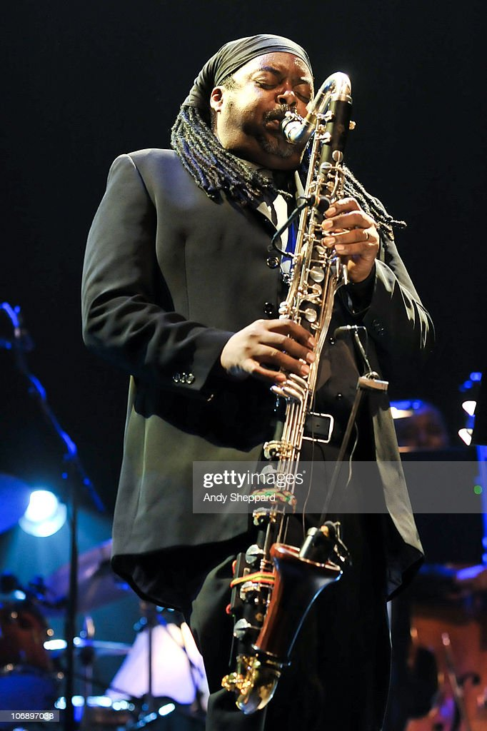 Courtney Pine performs on stage at Royal Festival Hall during the fourth day of London Jazz Festival 2010 on November 15, 2010 in London, England.