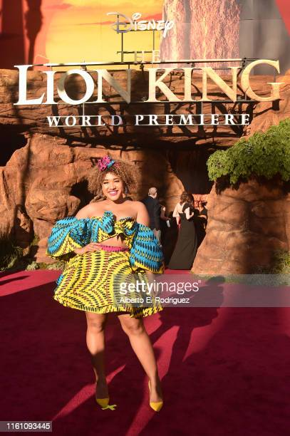 """Courtney Quinn attends the World Premiere of Disney's """"THE LION KING"""" at the Dolby Theatre on July 09, 2019 in Hollywood, California."""