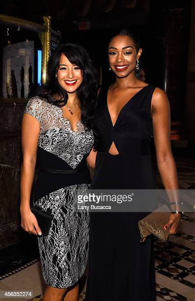 Courtney Reed and Chantel Riley attend the 8th Annual Exploring the Arts Gala at Cipriani 42nd Street on September 29 2014 in New York City