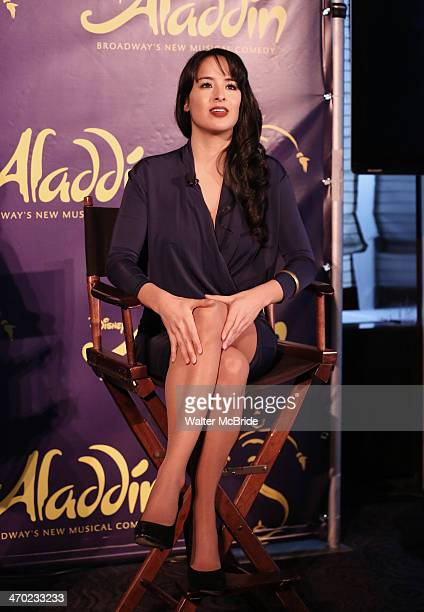 Courtney Reed attends the 'Aladdin' Broadway Cast And Creative Team Press Preview at Mandarin Oriental Hotel on February 18 2014 in New York City