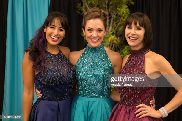 Courtney Reed Laura Osnes and Susan Egan attend the Broadway Princess Party hosted by 'That's From Disneyland' on August 17 2018 in Sherman Oaks...