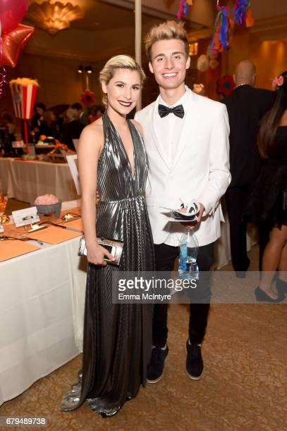 Courtney Saint and Influencer Christian Collins attend the 24th Annual Race To Erase MS Gala at The Beverly Hilton Hotel on May 5 2017 in Beverly...