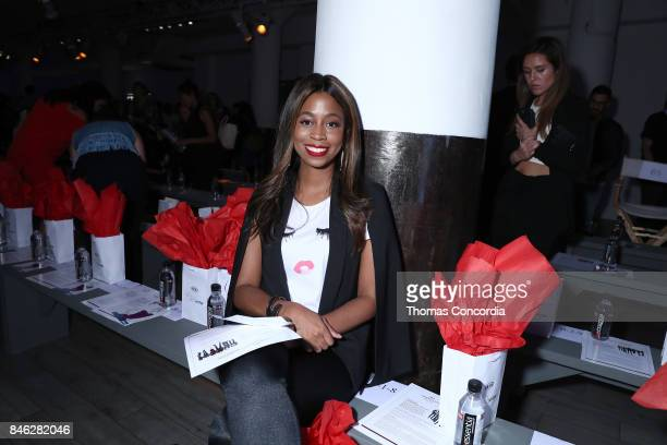Courtney Sanders attends Kia STYLE360 Hosts MOMENTUM by Timo Weiland for Crowne Plaza at Metropolitan West on September 12 2017 in New York City