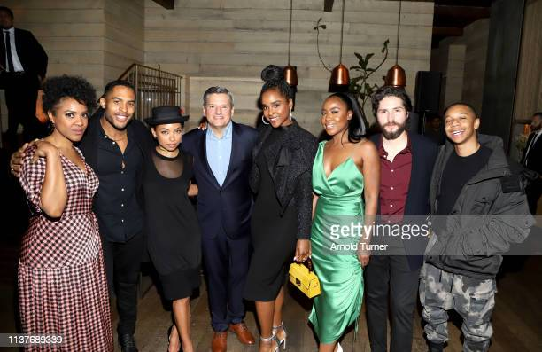Courtney Sauls, Brandon P. Bell, Logan Browning, Netflix Chief Content Officer Ted Sarandos, Antoinette Robertson, Nia Jervier, John Patrick Amedori...