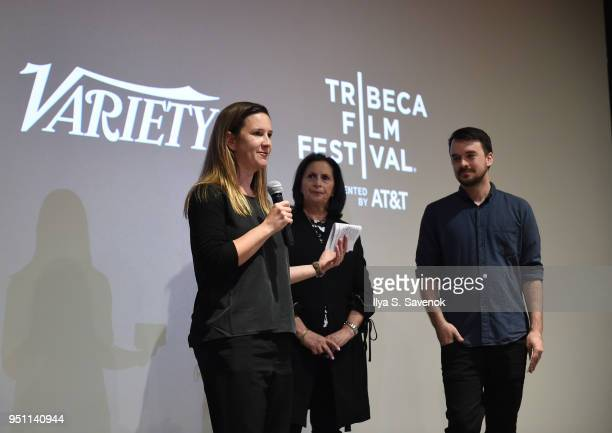 Courtney Sexton speaks during Documentary Filmmaker Party during 2018 Tribeca Film Festival at Town Stages on April 24 2018 in New York City
