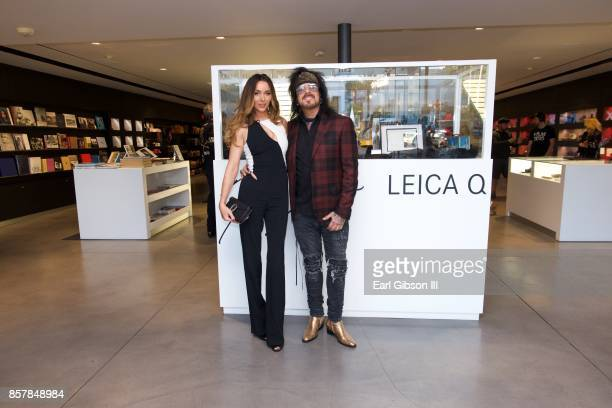 Courtney Sixx and Nikki Sixx attend the Nikki Sixx Photo Exhibit And Leica Q Launch at Leica Store and Gallery Los Angeles on October 4 2017 in Los...