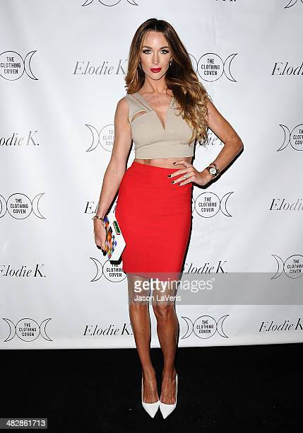 Courtney Sixx attends the launch of 'The Clothing Coven' at Elodie K on April 4 2014 in West Hollywood California