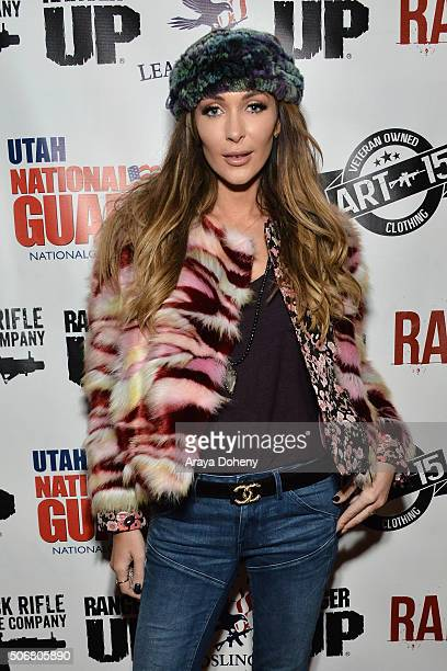 Courtney Sixx attends the Range 15 x Maxim Magazine Party at Indie Lounge on January 25 2016 in Park City Utah