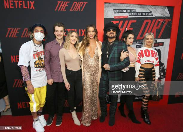 Courtney Sixx Nikki Sixx and family attend the premiere of Netflix's 'The Dirt' at the Arclight Hollywood on March 18 2019 in Hollywood California