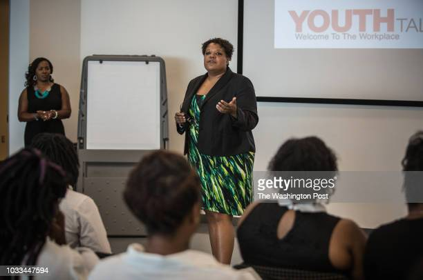 Courtney Snowden Deputy DC Mayor for Greater Economic Opportunity talks to 2224 year old participants in DC's Student Youth Employment Program SYEP...