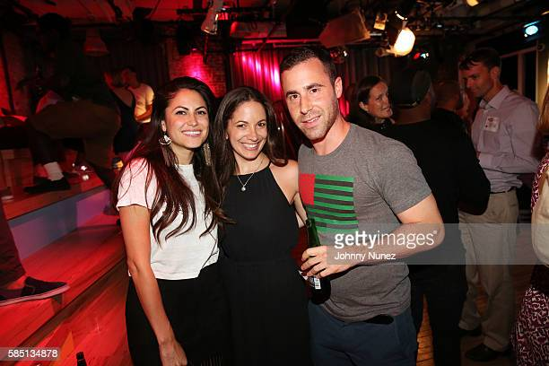 Courtney Spritzer Stephanie Abrams and Ross Michaels attend YouTube Music Mondays at Google Office on August 1 2016 in New York City