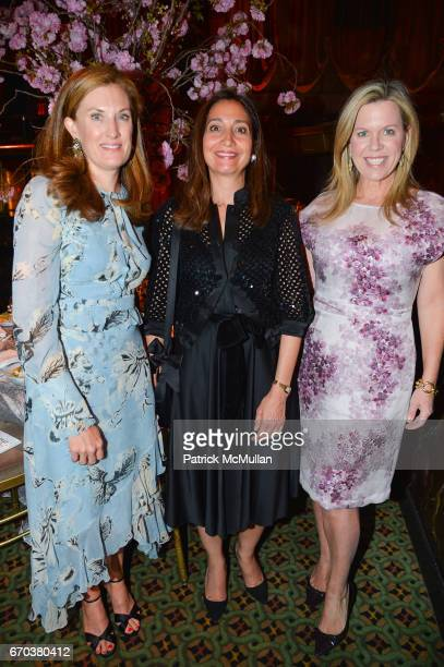 Courtney Stern Alison Levasseur and Ashley Whittaker attend LHNH honours Geoffrey Bradfield and John Manice at Cipriani 42nd Street on April 18 2017...