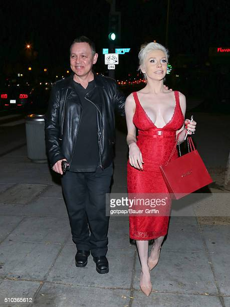 Courtney Stodden and Doug Hutchison are seen on February 14 2016 in Los Angeles California