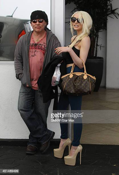 Courtney Stodden and Doug Hutchison are seen on November 22 2013 in Los Angeles California
