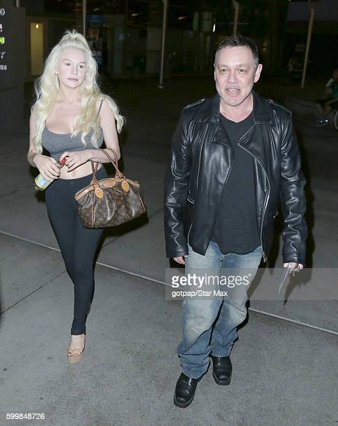 Courtney Stodden and Doug Hutchison are seen on September 6 2016 departing ArcLight Theatre in Los Angeles CA