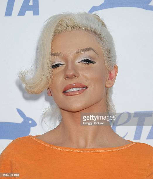 Courtney Stodden arrives at PETA's 35th Anniversary Party at Hollywood Palladium on September 30 2015 in Los Angeles California