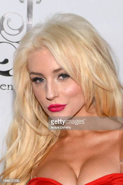 Courtney Stodden attends the JaydenSuede launch event at Six01 Studio on November 10 2012 in Los Angeles California