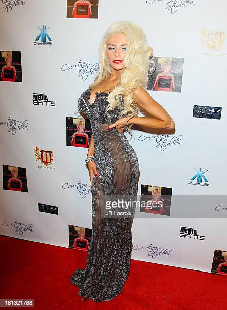 Courtney Stodden celebrates her new 'Reality' music video at Eleven NightClub on February 9 2013 in West Hollywood California