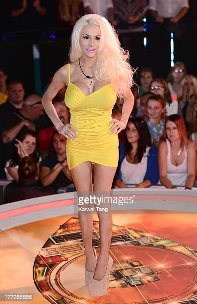 Courtney Stodden enters the Celebrity Big Brother House at Elstree Studios on August 22 2013 in Borehamwood England