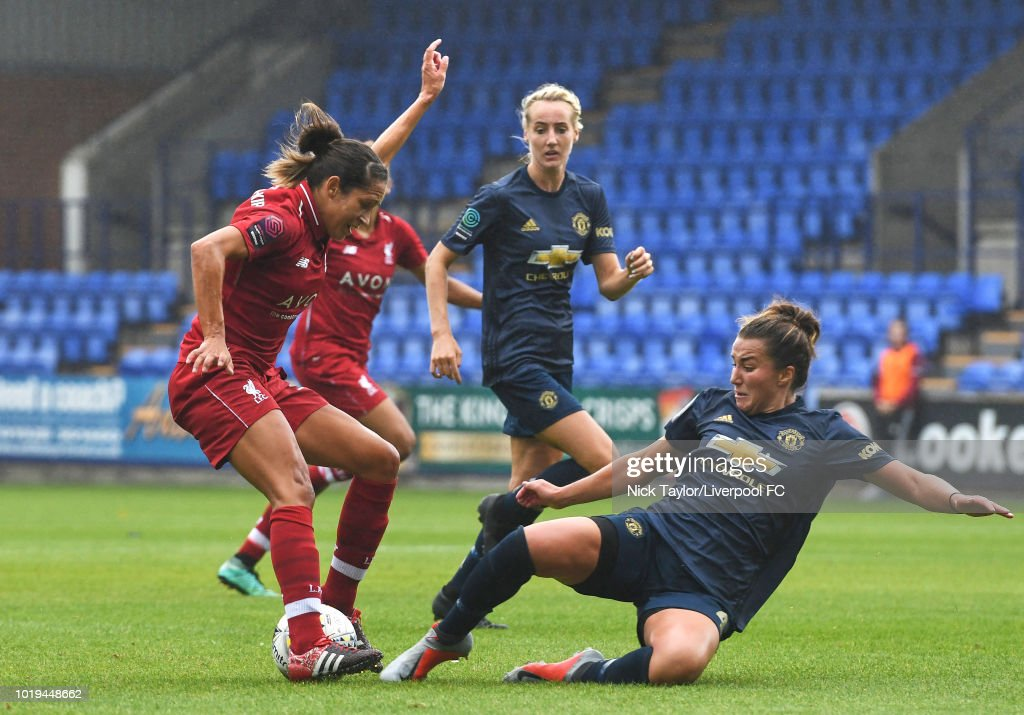 Liverpool FC Women v Manchester United Women: Continental Cup : News Photo