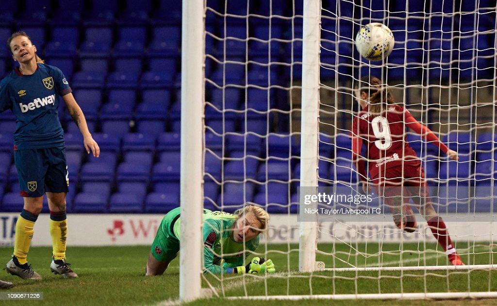 Liverpool Women v West Ham United Women: WSL : Nachrichtenfoto