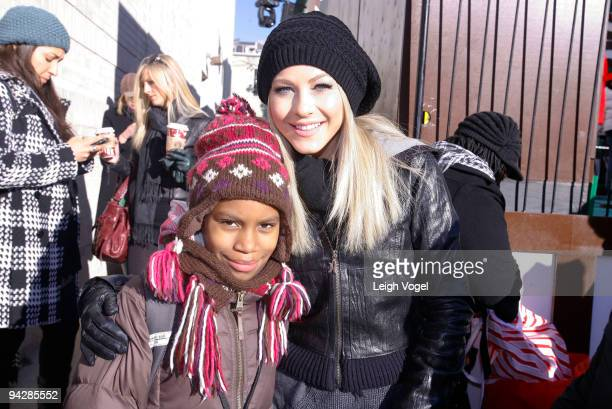 Courtney Taylor and Julianne Hough attends the Target ToGo holiday kick off at Target on December 11 2009 in Washington DC